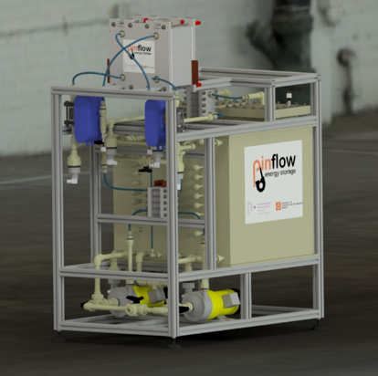 Test equipment by Pinflow energy storage